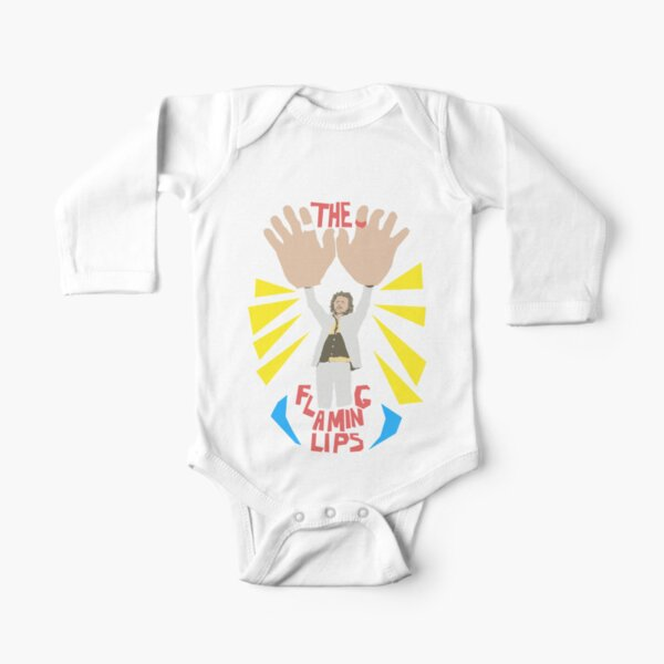 The flaming lips - big hands Long Sleeve Baby One-Piece