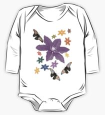Clematis Butterfly T-Shirt One Piece - Long Sleeve