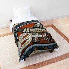 Authentic Aboriginal Art Clapstick Dreaming  Comforter
