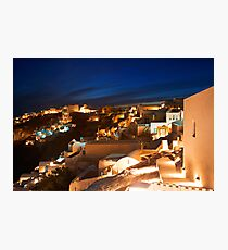 villages night Photographic Print