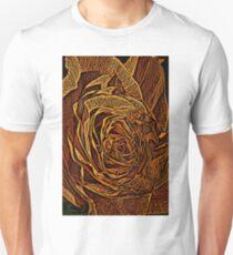 Rose Woodcut Unisex T-Shirt