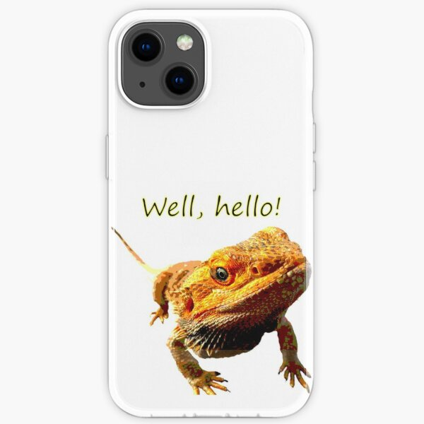 Bearded Dragon Says Hello iPhone Soft Case