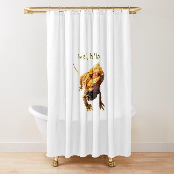 Bearded Dragon Says Hello Shower Curtain