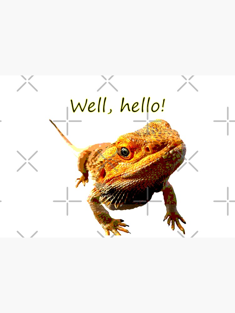 Bearded Dragon Says Hello by snibbo71