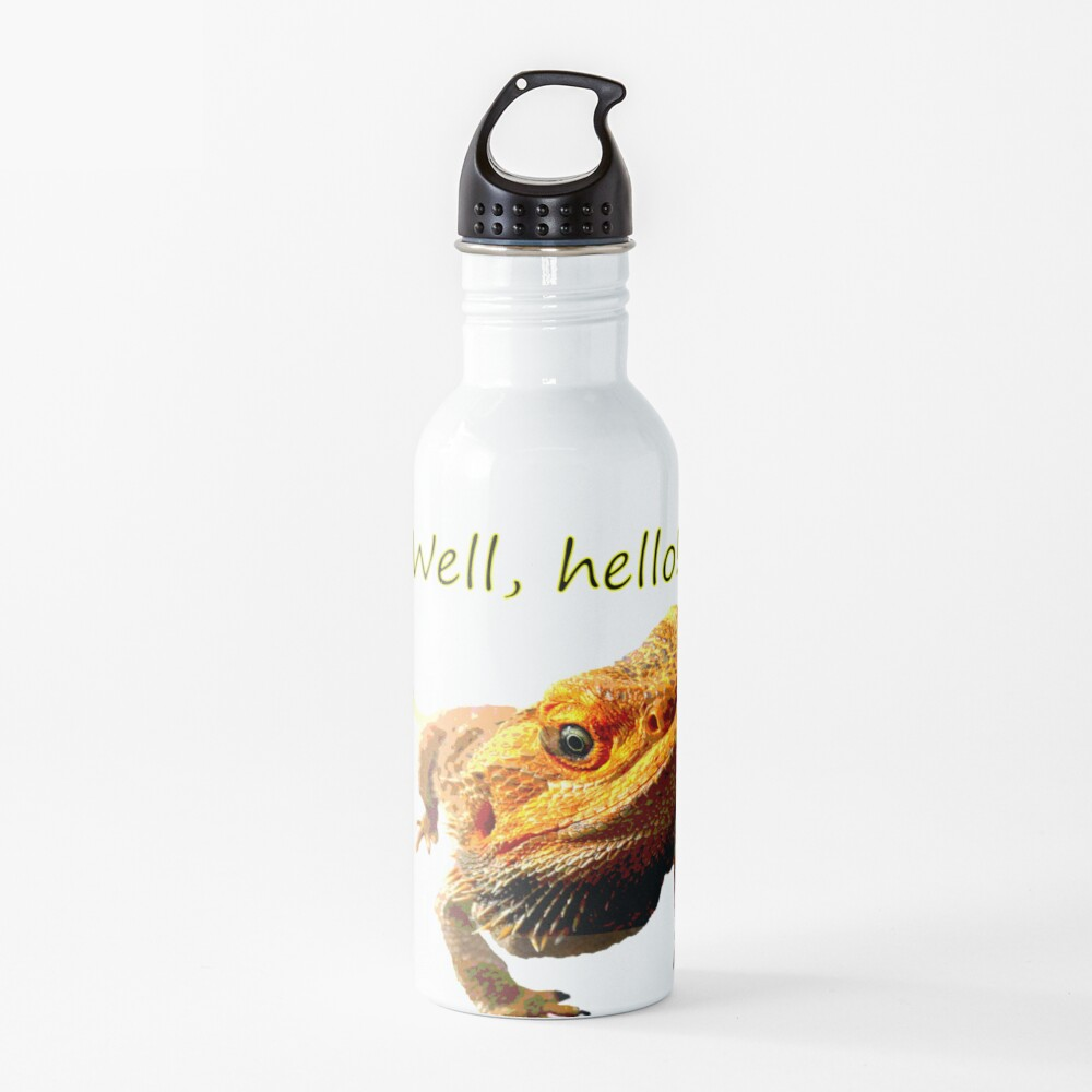 Bearded Dragon Says Hello Water Bottle