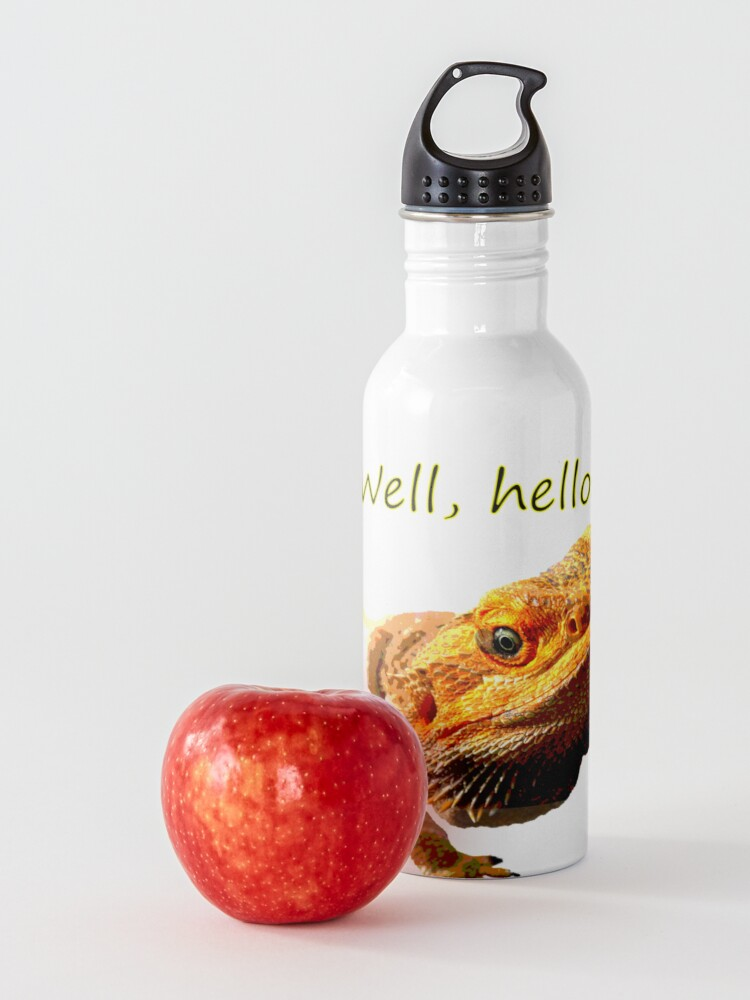 Alternate view of Bearded Dragon Says Hello Water Bottle