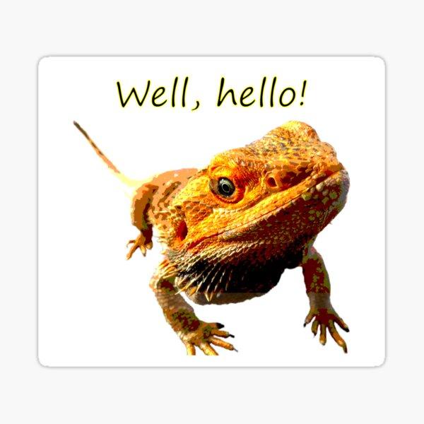 Bearded Dragon Says Hello Sticker