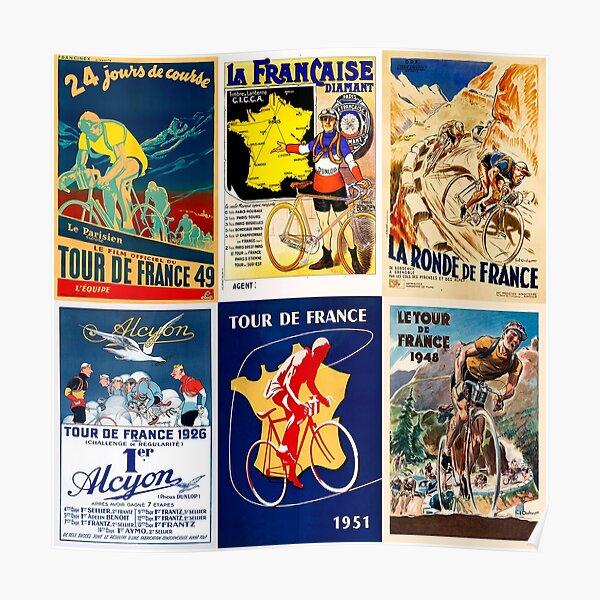 Collage de vélos Poster