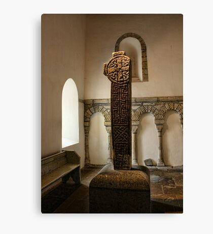 Penmon-Celtic Cross Canvas Print