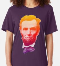 Big psychedelic Abe  Slim Fit T-Shirt