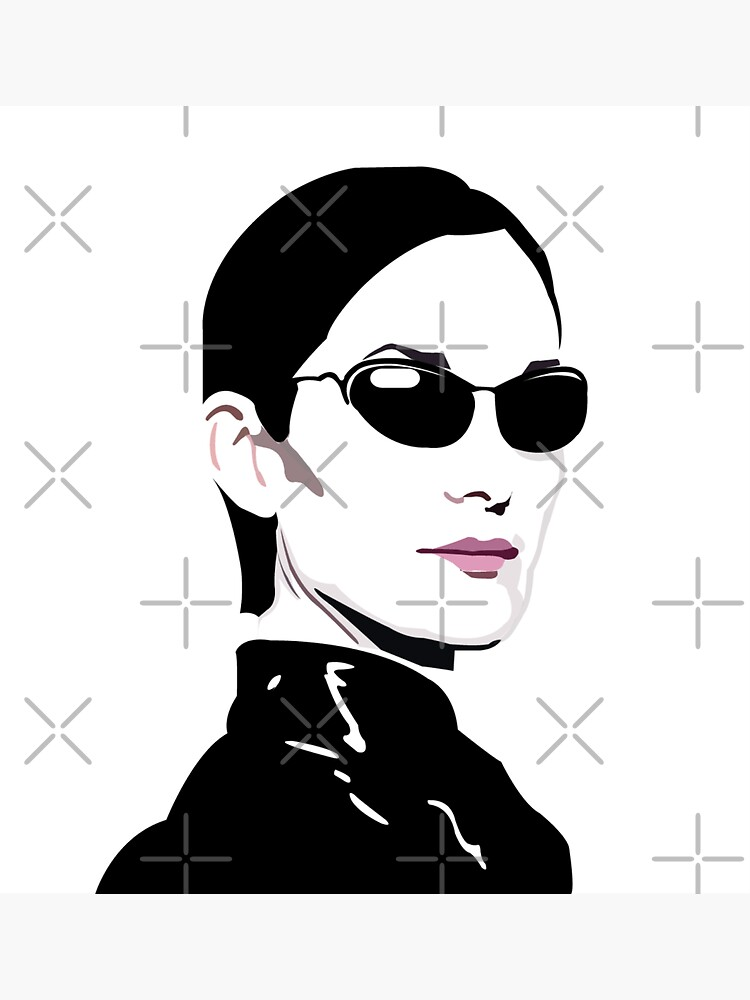 Trinity. The Matrix. Carrie Anne Moss by wheatbeltdesign