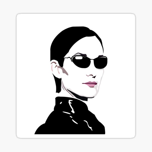 Trinity. The Matrix. Carrie Anne Moss Sticker