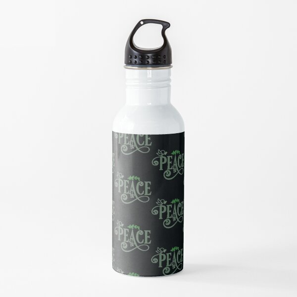 PEACE - Dreamer Life Goals of Humanity Future  Gift Ideas Water Bottle
