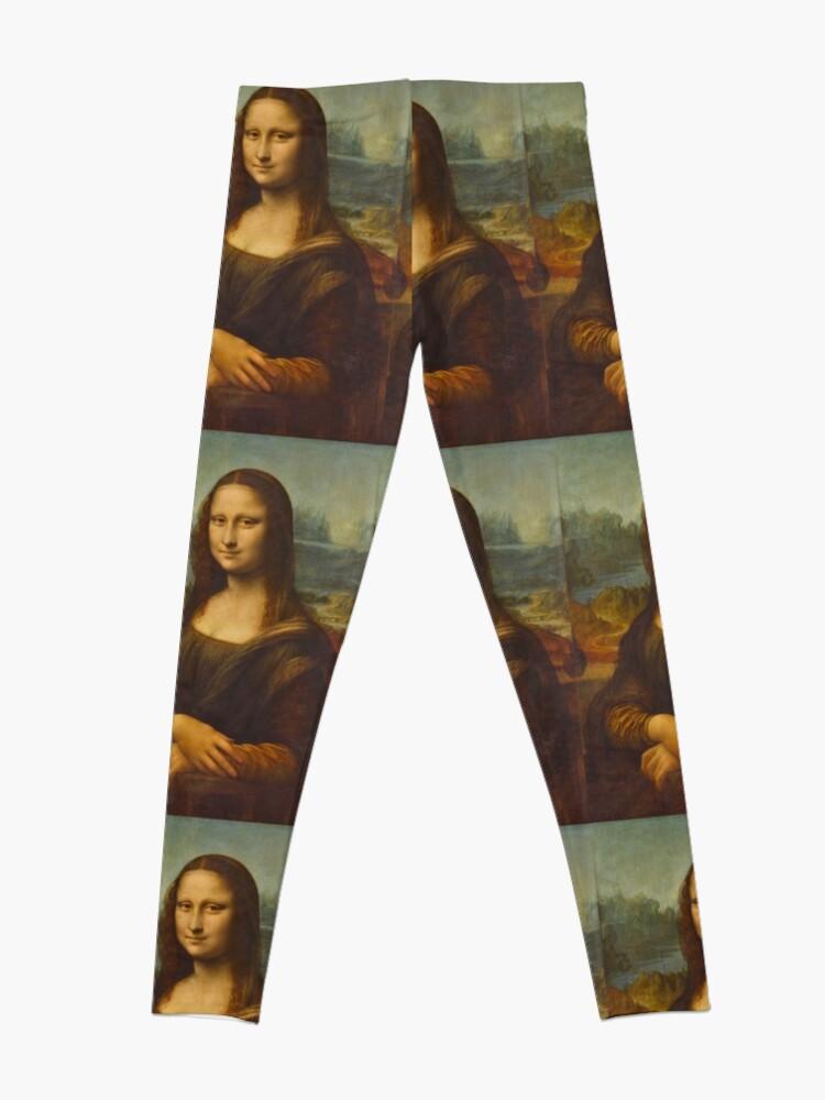Alternate view of Mona Lisa - Leonardo da Vinci (Louvre) Leggings