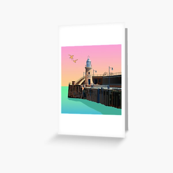 Folkestone Lighthouse, end of Pier Greeting Card