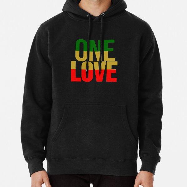 Rasta Colors One Love Pullover Hoodie