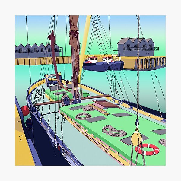 Whitstable Harbour, Kent, UK Photographic Print
