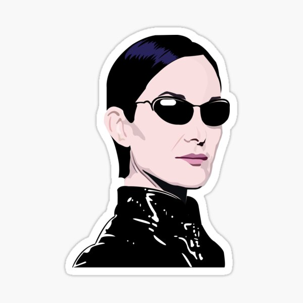 TRINITY, full colour. The MATRIX, Carrie Anne Moss Sticker