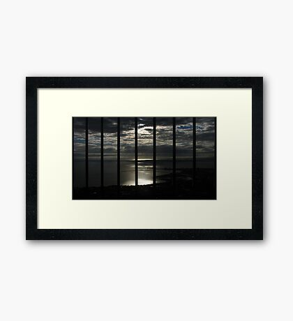 Imprisoned Sunrise - Castle Hill, Queensland Framed Print
