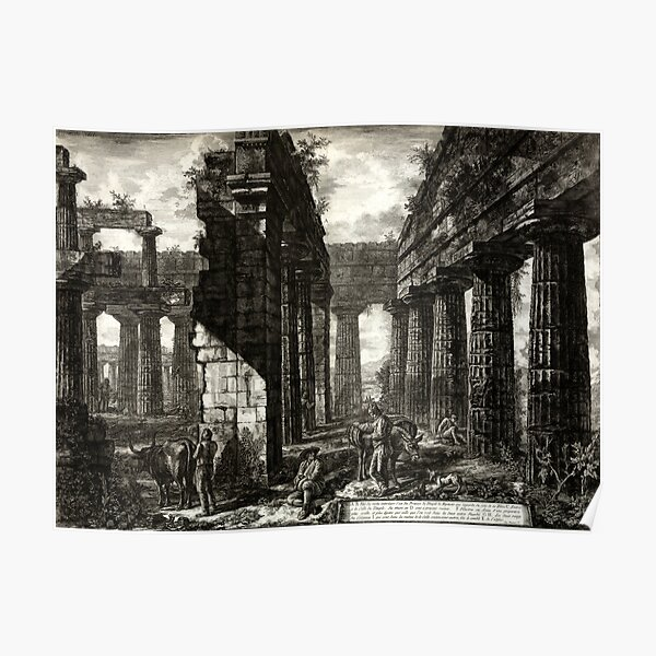 Temple of Neptune, Paestum - Giovanni Piranesi - 1778 Poster