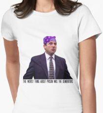 Prison Mike - The Worst Thing About Prison Was the Dementors Womens Fitted T-Shirt