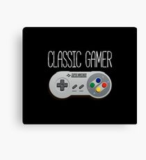 Classic gamer (snes controller) Canvas Print