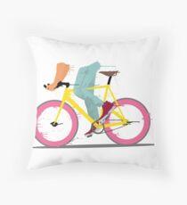fixie bicycle Throw Pillow