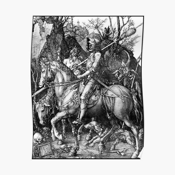 DURER. The Knight, Death and the Devil. Albrecht Durer. 1513. Poster