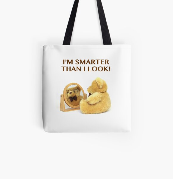SMART BEAR All Over Print Tote Bag