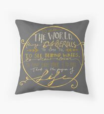 Walter Mitty Quote Graphic Throw Pillow