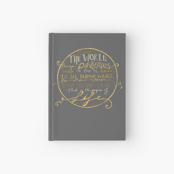 Walter Mitty Quote Graphic Hardcover Journal
