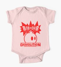 Bob-Omb Demolition red One Piece - Short Sleeve