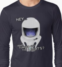 """Hey Who Turned Out The Lights"" Long Sleeve T-Shirt"