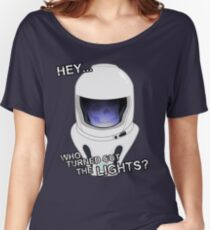 """Hey Who Turned Out The Lights"" Women's Relaxed Fit T-Shirt"