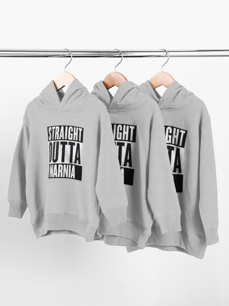Alternate view of Straight Outta Narnia Toddler Pullover Hoodie