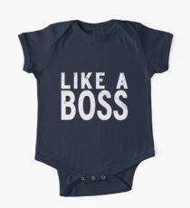 Like A Boss [WHITE] One Piece - Short Sleeve