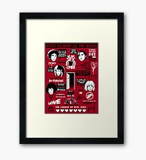 Scott Pilgrim Quotes Framed Print
