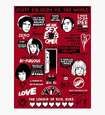 Scott Pilgrim Quotes Photographic Print