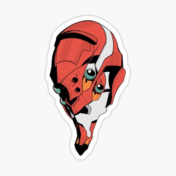 Neon Genesis EVANGELION Mecha Head - Dream Of a Robot - Argos Sticker Sticker