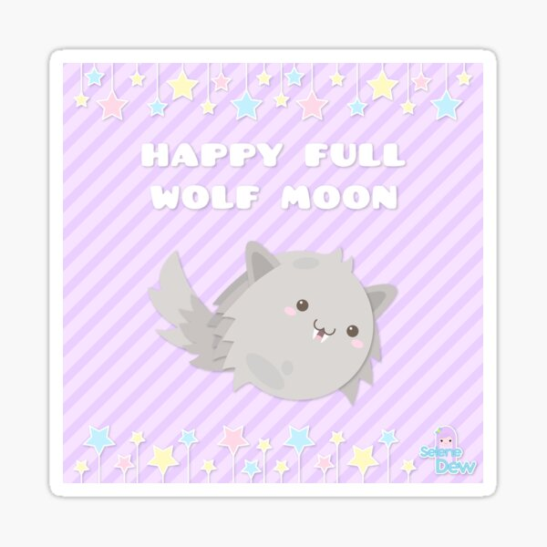 HAPPY WOLF MOON Sticker