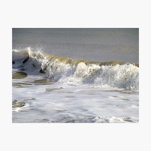Splashy Worthing Waves Foam Patterns Seascape Photo Photographic Print