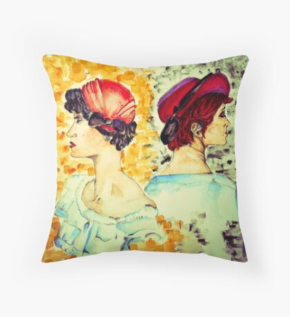 Two sides into me Throw Pillow