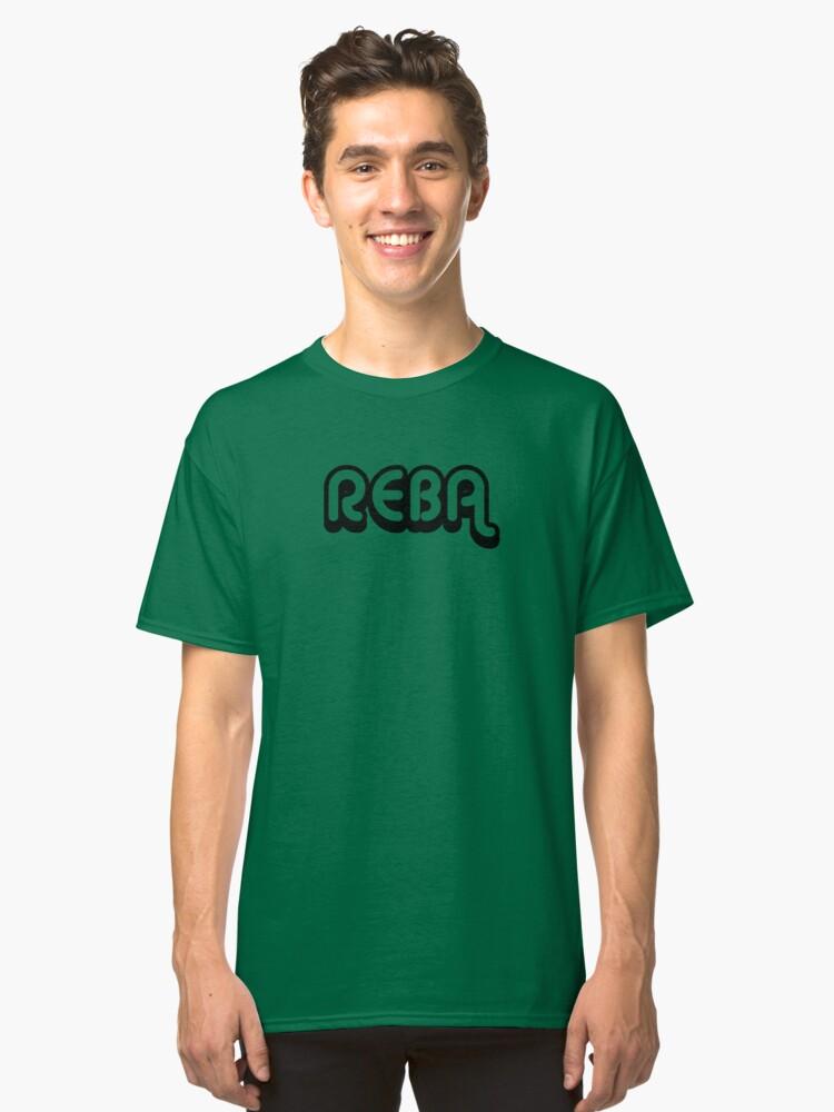 Reba (black) Classic T-Shirt Front