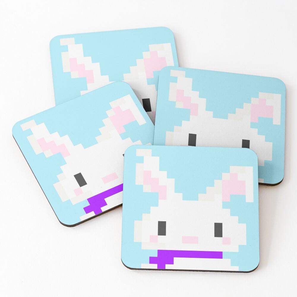 Conejo pixel Posavasos (lote de 4)