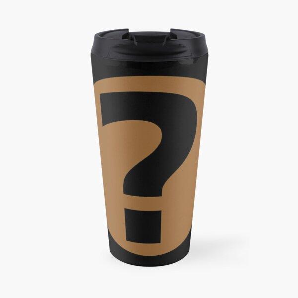 PodQuiz Black Travel Mug