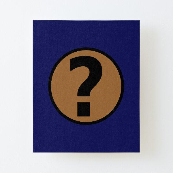 PodQuiz Blue Canvas Mounted Print