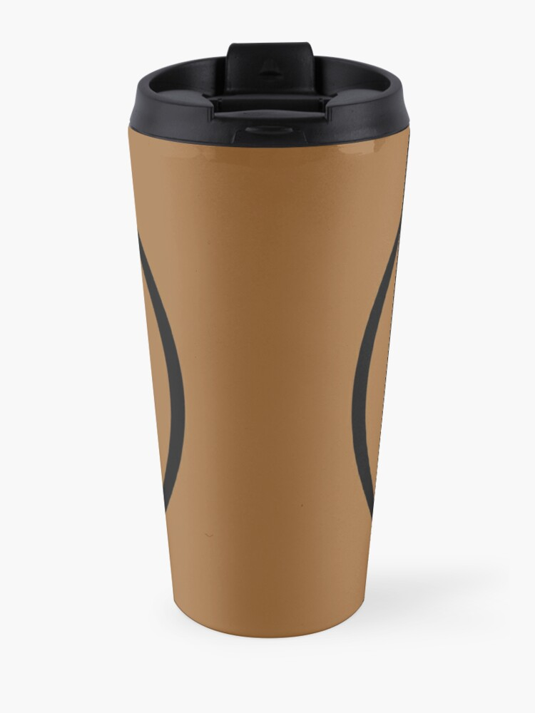 Alternate view of PodQuiz Brown Travel Mug