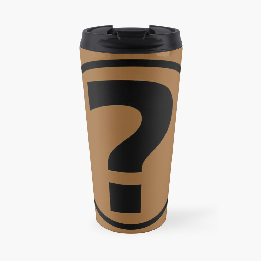 PodQuiz Brown Travel Mug
