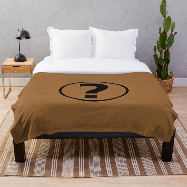 PodQuiz Brown Throw Blanket