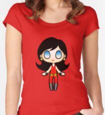 Wonder Girl Plush 2 Women's Fitted Scoop T-Shirt